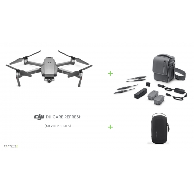 Drona DJI Mavic 2 ZOOM Fly More Combo + DJI Care Refresh + Geanta mini Pgytech